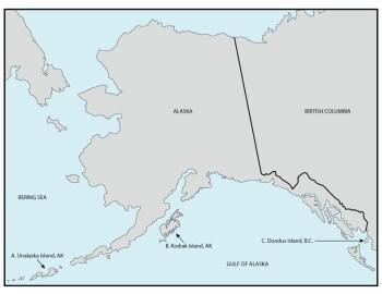 Map of the study area (Alaska)